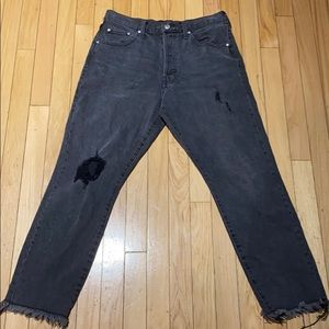 Woman's By The Way High Rise Ripped Denim Jeans 28